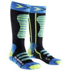 Ski Junior Socks Turquoise/Yellow