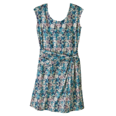 Seabrook Twist Dress Women Furnai Floral: Neo Navy