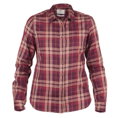 Övik Flannel Shirt Women Dark Garnet