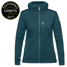 Keb Fleece Hoodie Women Glacier Green