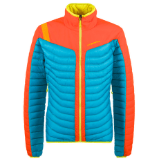 Combin Down Jacket Men Tropic Blue/Pumpkin