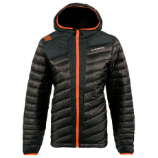 Frontier Down Jacket Women Black/Pumpkin