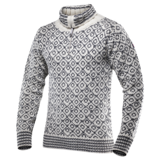 Svalbard Sweater Zip-Neck Men 020 OFFWHITE/ANTH.