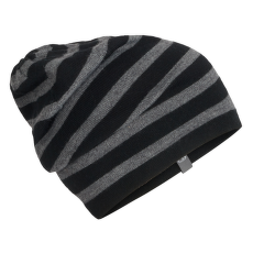 Adult Stripe Slouch Beanie Black001