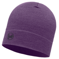 Midweight Merino Wool Hat (113026) PURPLE MELANGE