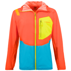 Hail Jacket Men Pumpkin/Tropic Blue