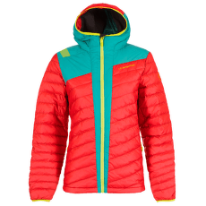 Frontier Down Jacket Women Garnet/Emerald