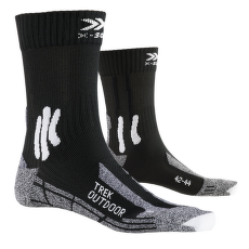 Trek Outdoor Socks Black-Grey Melange