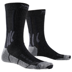 Trek Silver Socks Black-Grey Melange
