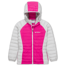 Powder Lite™ Hooded Jacket Girls Pink Ice, Silver Grey 696