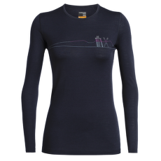 Oasis LS Crewe Single Line Snow Women Midnight Navy