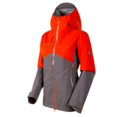 Crater HS Hooded Jacket Women shark-poinciana 00406
