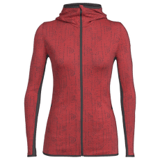 Away LS Zip Hood Showers Women POPPY RED/Monsoon