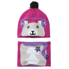 Youth Snow More™ Hat And Gaiter Set Pink Ice Bear 695