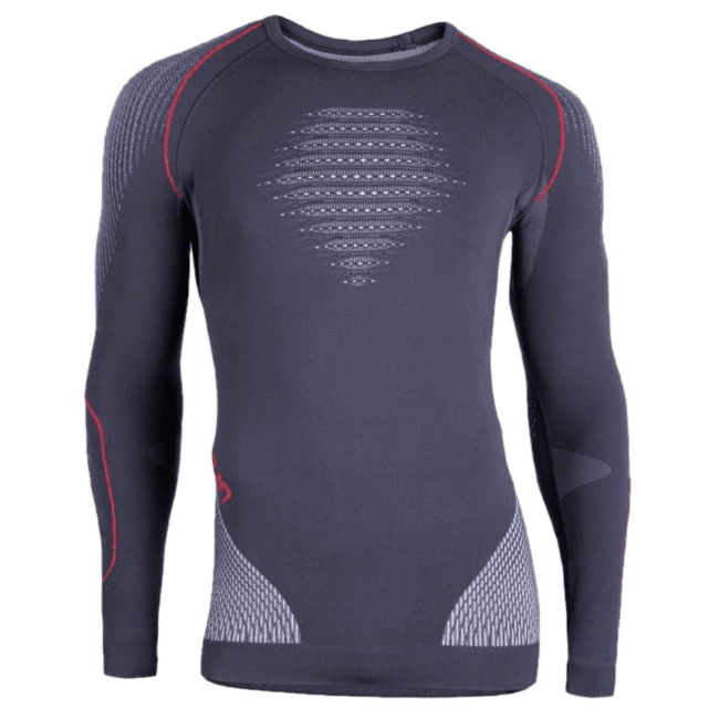 Evolutyon UW Shirt Men Charcoal/White/Red