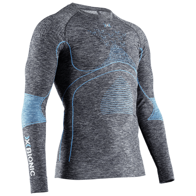 Energy Accumulator 4.0 Melange Shirt Round Neck Men DARK GREY MELANGE/BLUE