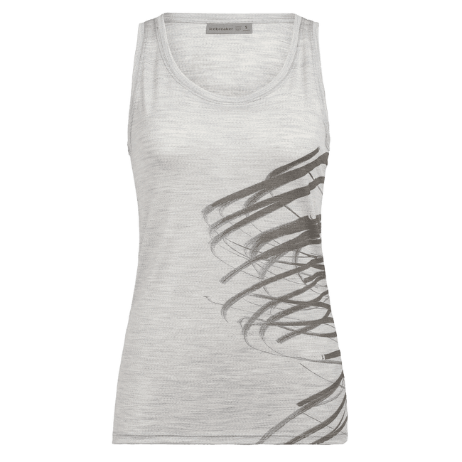 Tech Lite Tank Birds In Fight Women Blizzard HTHR IBANS_00002