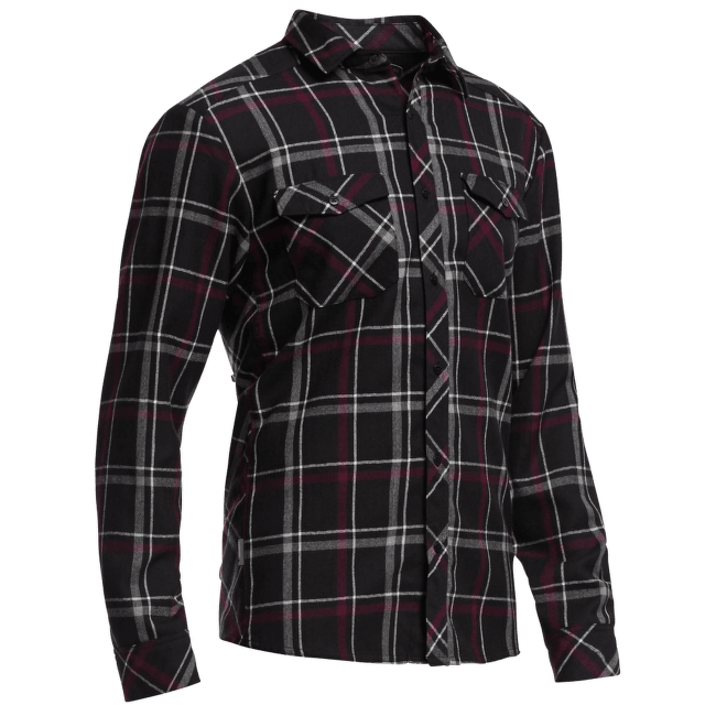 Lodge LS Flannel Shirt Men Carbon/Redwood
