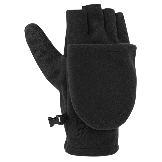 Infinium Windproof Convertible Mitt Black