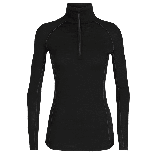 Zone LS Half Zip Women Black/Mineral