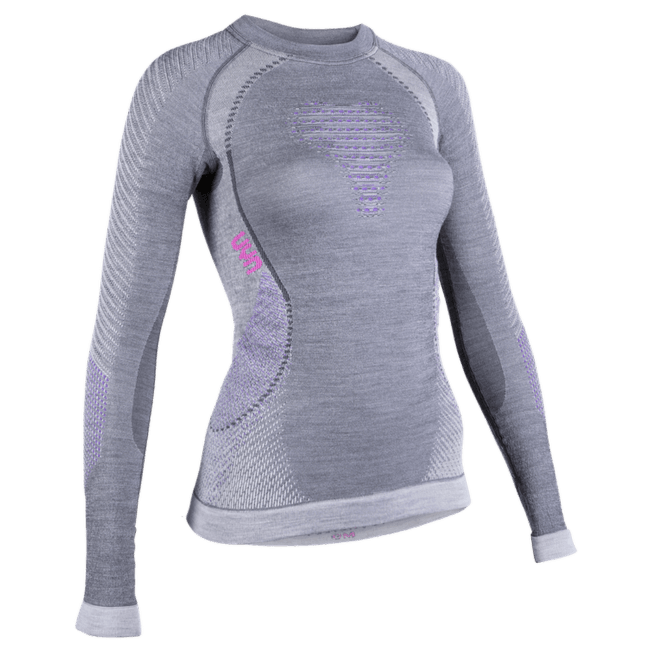 Fusyon UW Shirt LS Women Anthracite/Purple/Pink