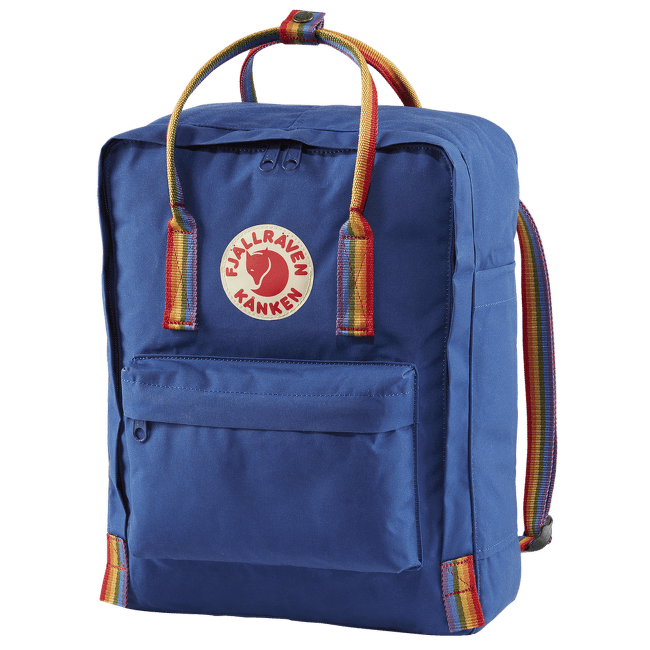 Kanken Rainbow Deep Blue-Rainbow Pattern