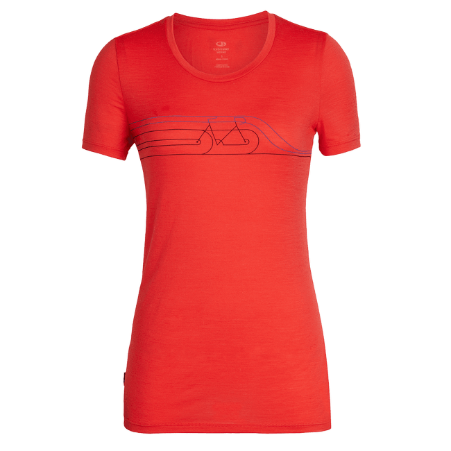 Tech Lite SS Low Crewe Cadence Pulse Women Ember