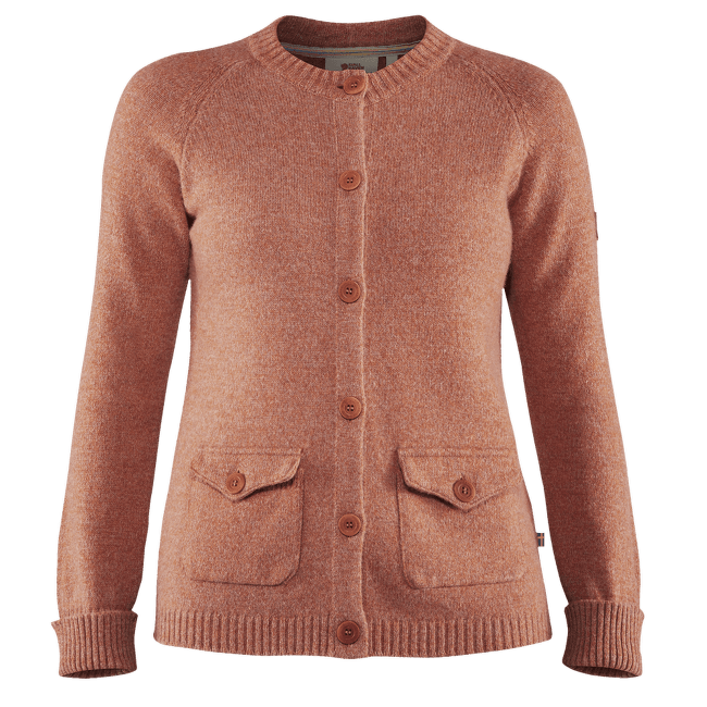 Greenland Re-Wool Cardigan Women Terracotta Pink